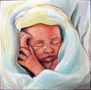 El Niño, cuadro de Mariam Gutiérrez Jerez.