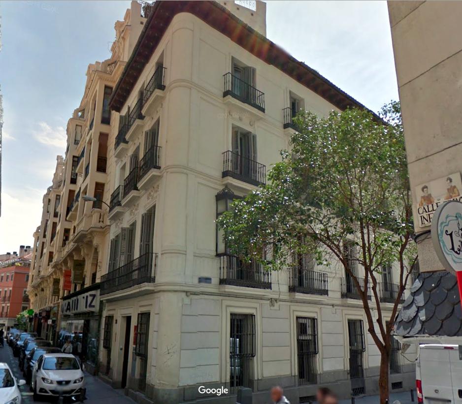 Edificio que en 1936 era la DGS, en la calle Víctor Hugo esquina Infantas.