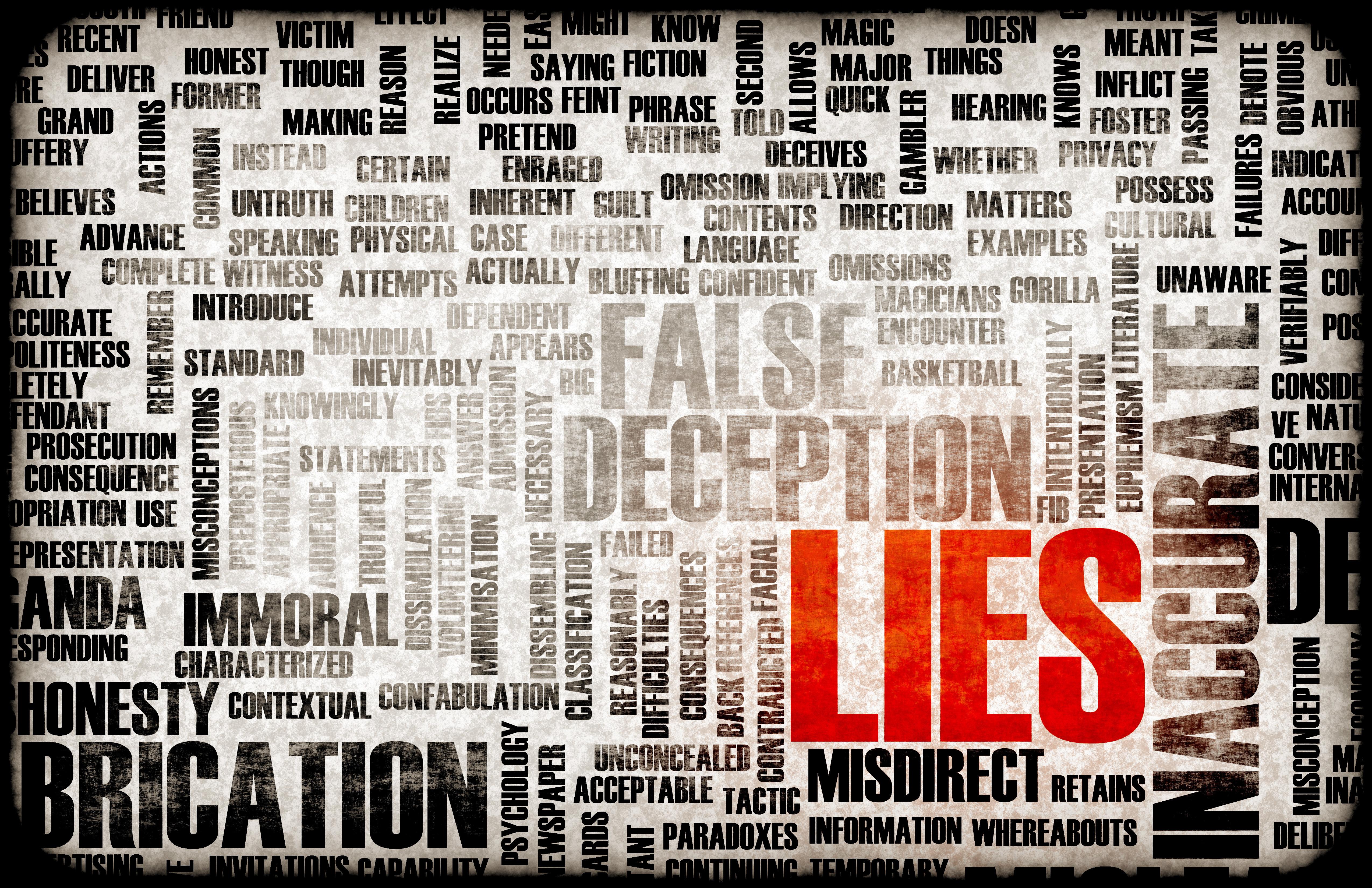 Mentiras e información falsa.